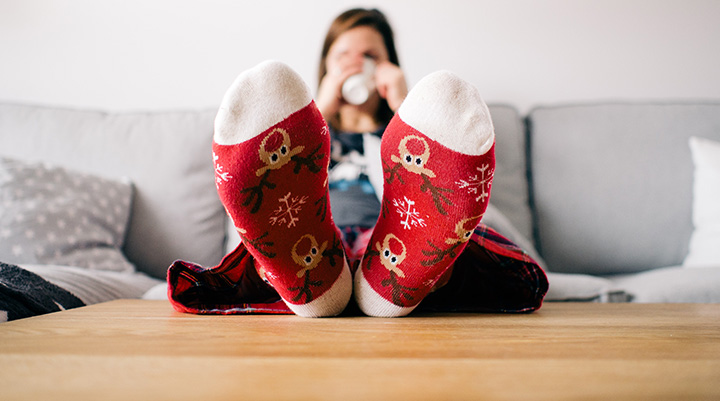 Christmas stress - relaxed through the holidays