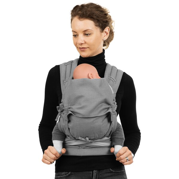 Fid-FT-BS-2164 - Fidella® Fly Tai - Mei Tai Baby Carrier - Chevron - light...