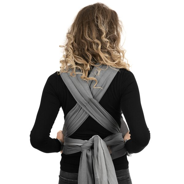 Fidella® Fly Tai - Mei Tai Baby Carrier - Chevron - light gray - Baby