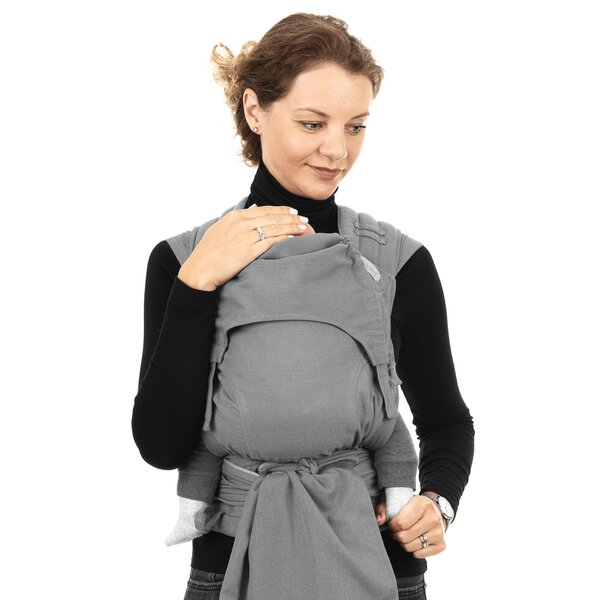 Fidella® FlyClick - Halfbuckle Baby Carrier - Chevron - light gray - Baby