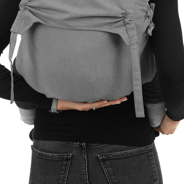Fidella® Onbuhimo V2 - Back Carrier - Chevron - light gray - Toddler