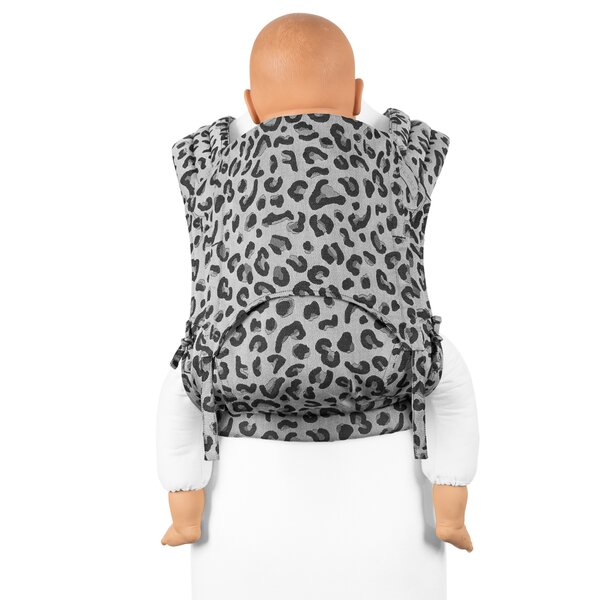 Fidella® Fly Tai - Mei Tai Baby Carrier - Leopard - silver - Toddler