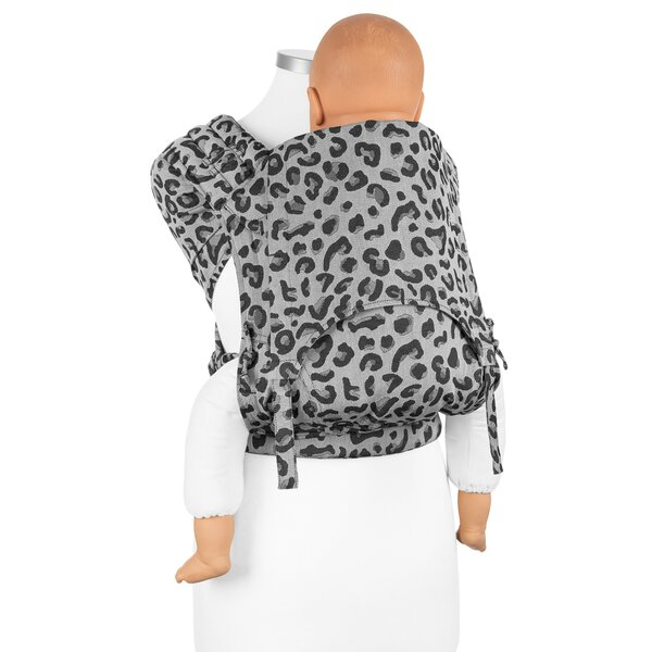 Fidella® FlyClick Plus - Halfbuckle Baby carrier - Leopard - silver - Toddler