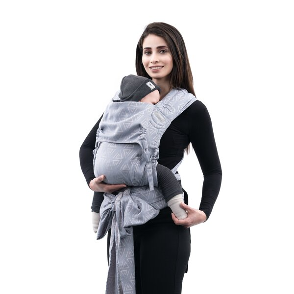 Fidella® FlyClick Plus - Halfbuckle Baby carrier - Paperclips - ash blue - Toddler