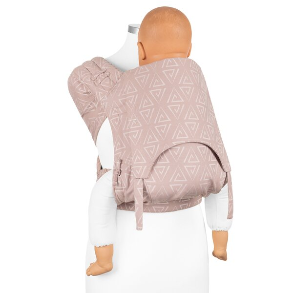 Fidella® Fly Tai - Mei Tai Baby Carrier - Paperclips - ash rose - Toddler