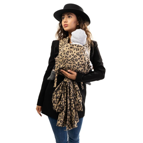 Fid-FT-BS-2162 - Fidella® Fly Tai - Mei Tai Baby Carrier - Leopard - gold...