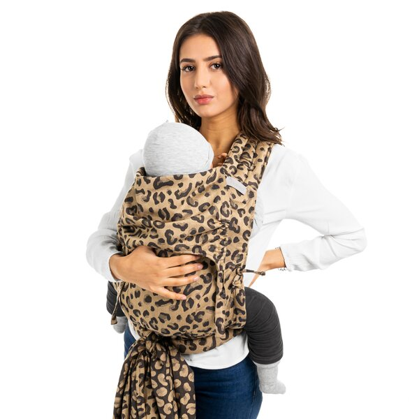 Fid-FT-TS-2162 - Fidella® Fly Tai - Mei Tai Baby Carrier - Leopard - gold...