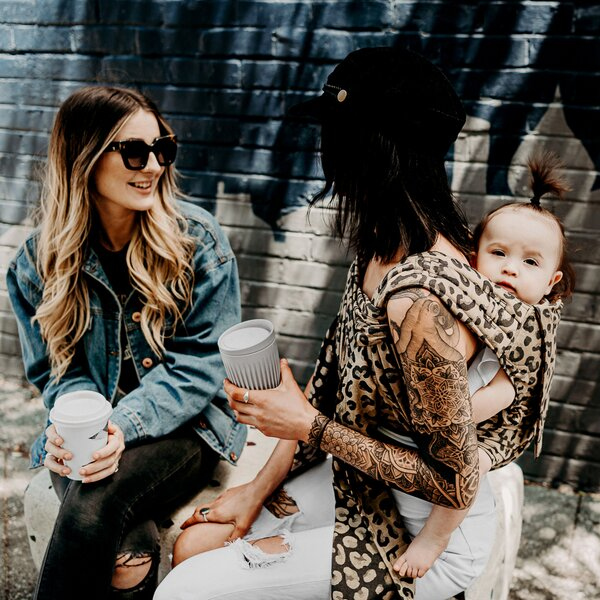 Fidella® Fly Tai - Mei Tai Baby Carrier - Leopard - gold - Toddler