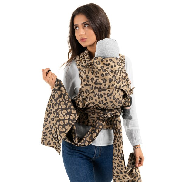 Fid-HB-BS-2162 - Fidella® FlyClick - Halfbuckle Baby Carrier - Leopard -...