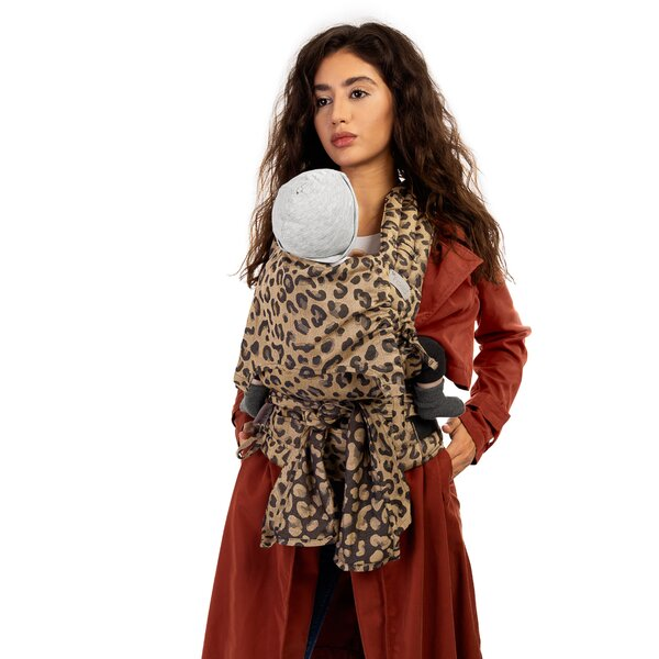 Fidella® FlyClick - Halfbuckle Baby Carrier - Leopard - gold - Baby