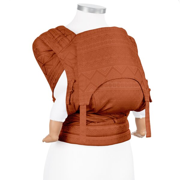 Fidella® Fly Tai - Mei Tai Baby Carrier - Cubic Lines - rustred - Baby
