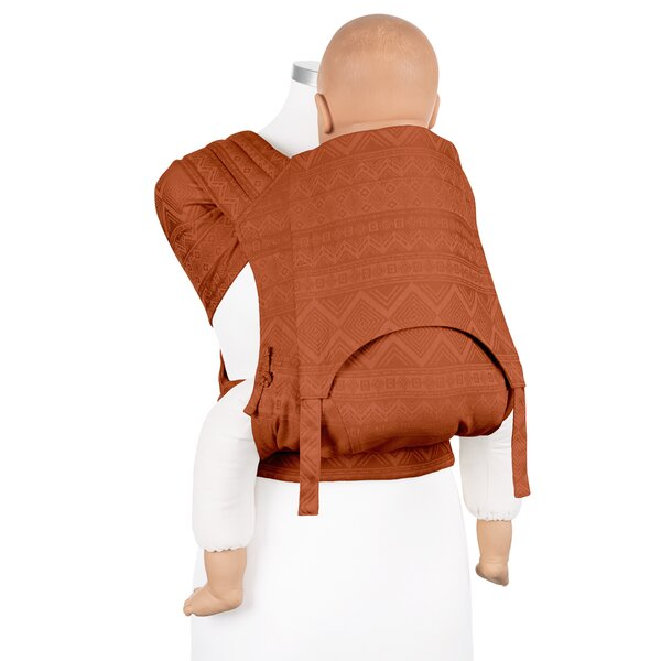 Fidella® Fly Tai - Mei Tai Baby Carrier - Cubic Lines - rustred - Toddler