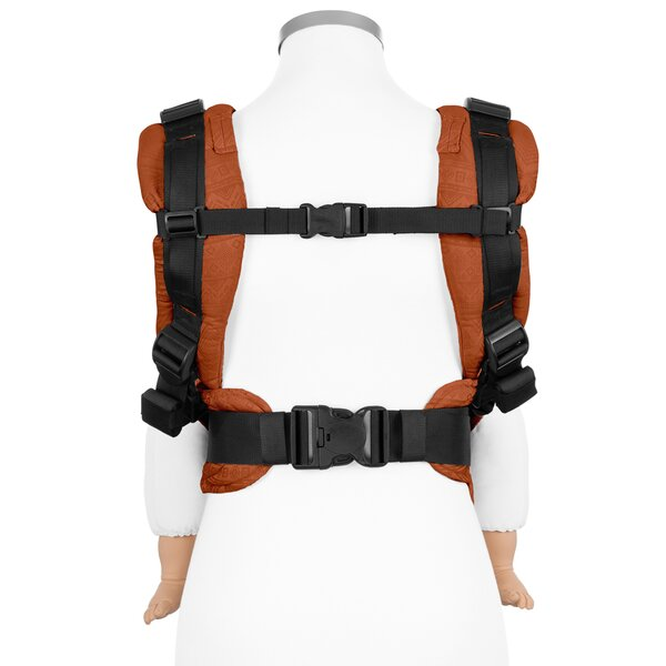 Fidella® Fusion 2.0 - Fullbuckle baby carrier - Cubic Lines - rustred - Toddler
