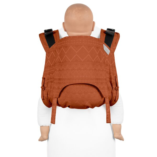 Fidella® Onbuhimo V2 - Back Carrier - Cubic Lines - rustred - Toddler