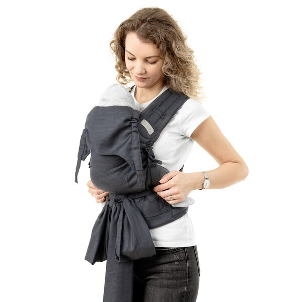 Fidella® FlyClick Plus - Mochila Ergonómica - Diamonds - antracita - Toddler