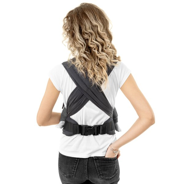Fidella® FlyClick - Halfbuckle Baby Carrier - Diamonds - anthracite - Baby