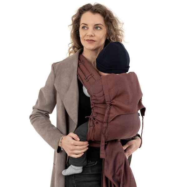 Fidella® Fly Tai - Mei Tai Baby Carrier - Diamonds - rustred - Toddler