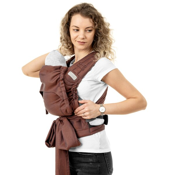 Fidella® FlyClick - Halfbuckle Baby Carrier - Diamonds - rustred - Baby
