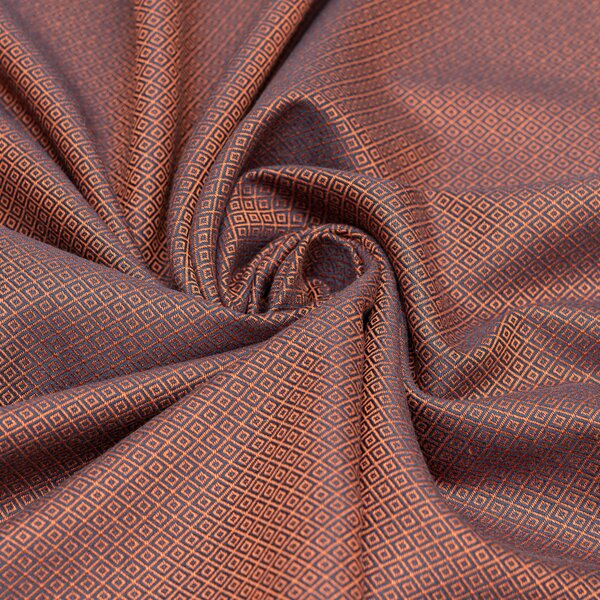 Fidella® Baby Wrap - Diamonds - rustred - size 6 - 460 cm