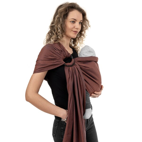 Fidella® Ring Sling - Diamonds - rostrot
