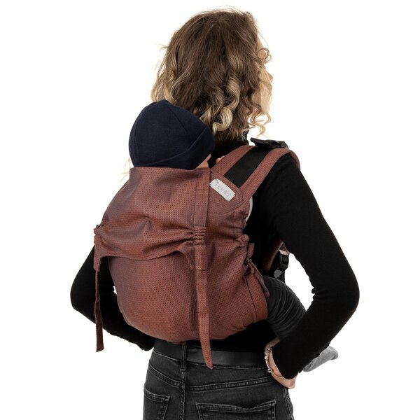 Fidella® Onbuhimo V2 - Back Carrier - Diamonds - rustred - Toddler