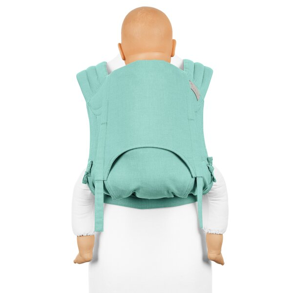 Fid-FT-TS-2175 - Fidella® Fly Tai - Mei Tai Baby Carrier - Chevron - mint...