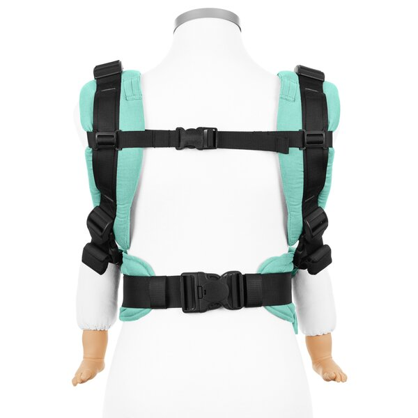 Fidella® Fusion 2.0 - Full-Buckle Tragehilfe - Chevron - mint - Toddler