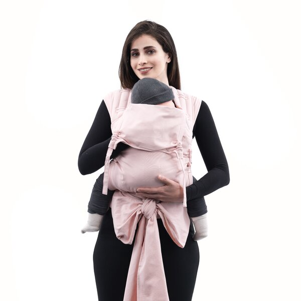 Fidella® FlyClick Plus - Halfbuckle Baby carrier - Chevron - rose - Toddler