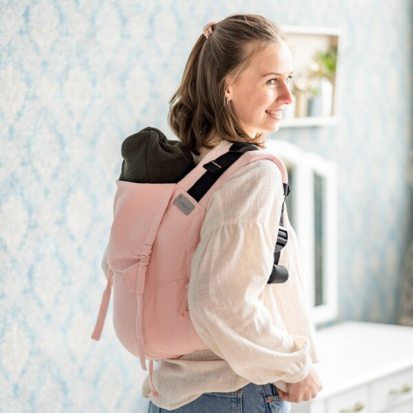 Fidella® Onbuhimo V2 - Back Carrier - Chevron - rose - Toddler