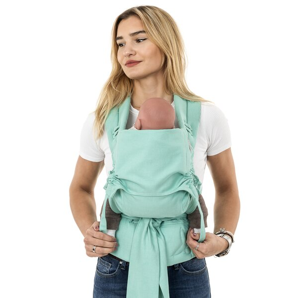 Fidella® FlowClick - Halfbuckle Baby Carrier - Chevron - mint - Baby