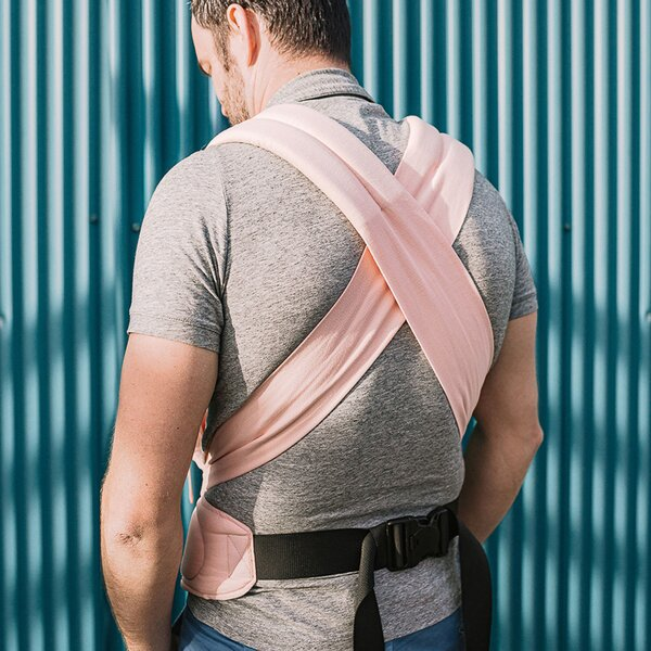 Fidella® FlowClick - Halfbuckle Baby Carrier - Chevron - rose - Baby