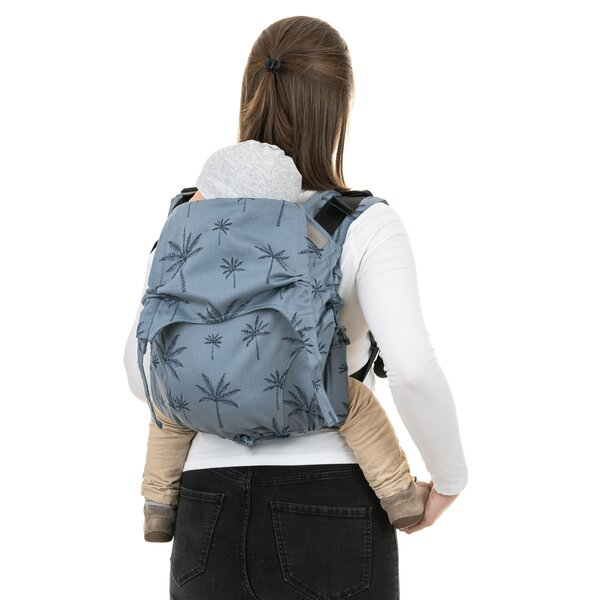 Fidella® Onbuhimo V2 - Back Carrier - Palm Trees - dove blue - Toddler