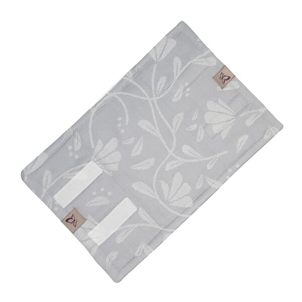 Fidella® Suck Pad for baby carriers - Floral Touch - lunar grey