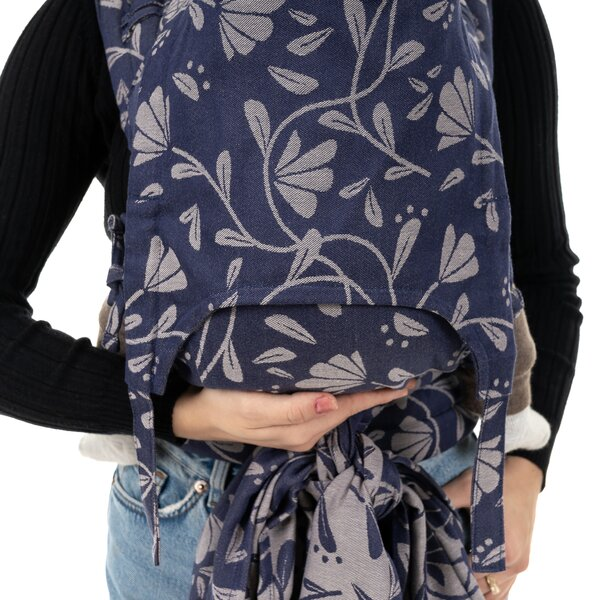 Fidella® Fly Tai - Mei Tai Baby Carrier - Floral Touch - eclipse blue - Baby
