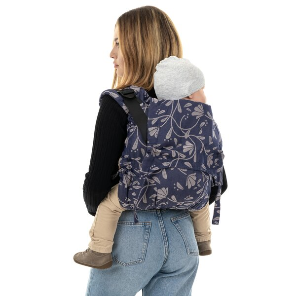 Fidella® Onbuhimo V2 - Back Carrier - Floral Touch - eclipse blue - Toddler