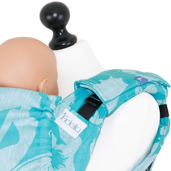 Fidella suck pad for baby carriers - Sirens -blue- linen