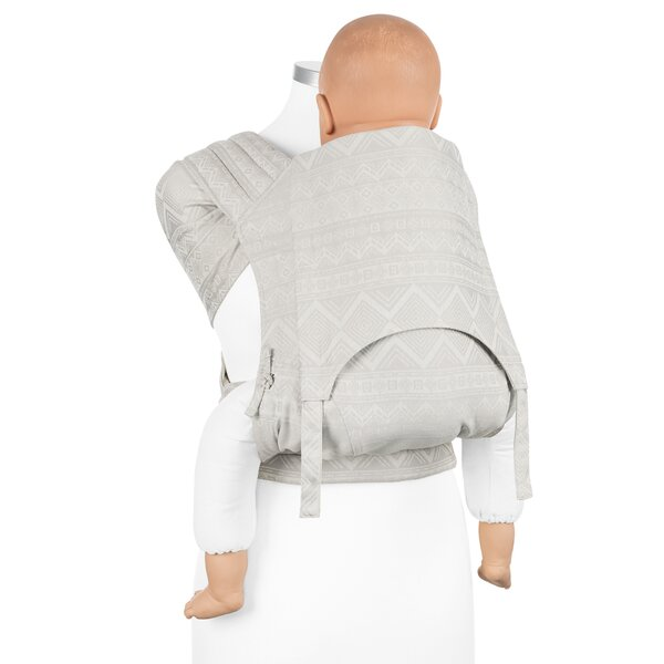 Fidella® Fly Tai - Mei Tai Baby Carrier - Cubic Lines - pale grey - Toddler