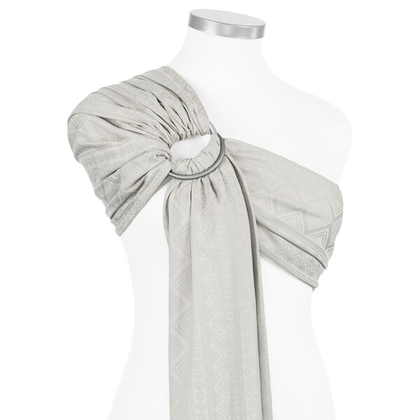 Fidella® Ring Sling - Cubic Lines - pale grey