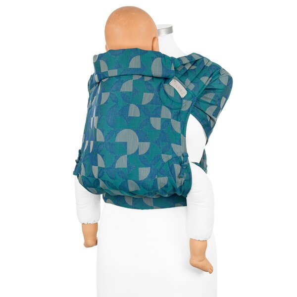 Fidella® Fly Tai - Mei Tai Baby Carrier - Kaleidoscope - ocean teal - Toddler