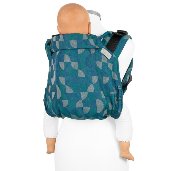 Fidella® Onbuhimo V2 - Back Carrier - Kaleidoscope - ocean teal - Toddler