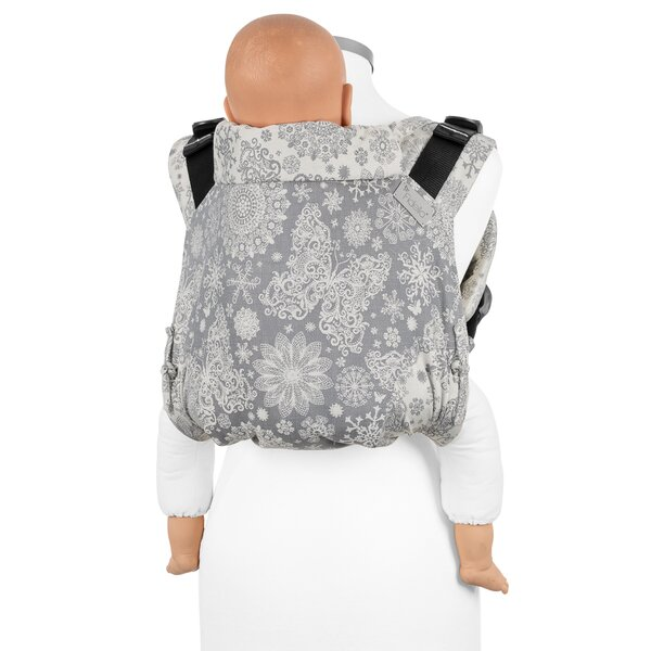 Fidella® Onbuhimo V2 - Back Carrier - Iced Butterfly - smoke - Toddler