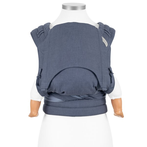 Fid-FT-BS-2140 - Fidella® Fly Tai - Mei Tai Baby Carrier - Chevron - denim...