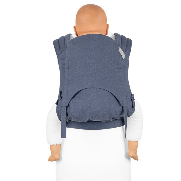 Fid-FT-TS-2140 - Fidella® Fly Tai - Mei Tai Baby Carrier - Chevron - denim...