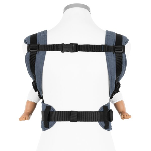 Fidella® Fusion - Full-Buckle Baby Carrier - Chevron - denim blue - Baby
