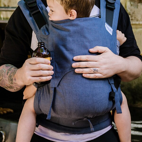 Fidella® Fusion 2.0 - Full-Buckle Baby Carrier - Chevron - denim blue - Toddler