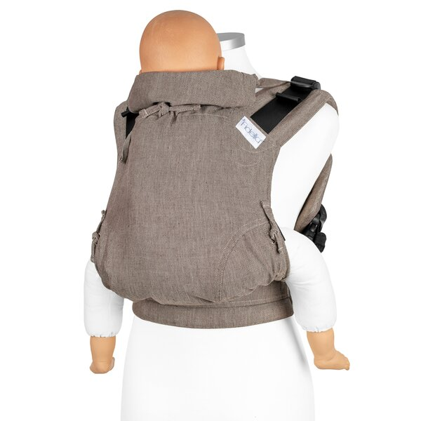 Fidella® Fusion 2.0 - Full-Buckle Baby Carrier - Chevron - walnut - Toddler