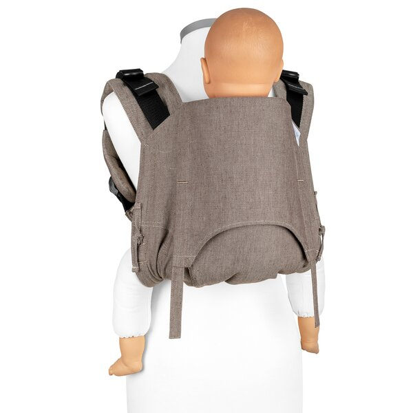 Fidella® Onbuhimo V2 - Back Carrier - Chevron - walnut - Toddler