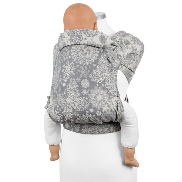 Fidella® FlyClick Plus - Halfbuckle Baby Carrier - Iced Butterfly - smoke - Toddler