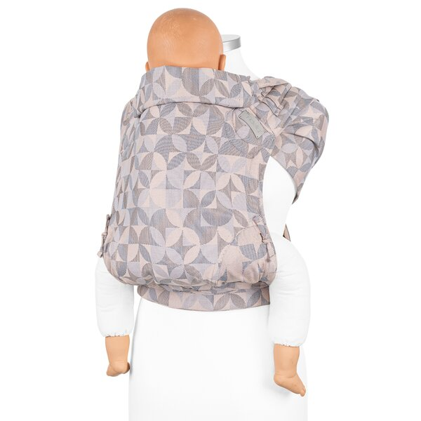 Fidella® FlyClick Plus - Halfbuckle Baby Carrier - Kaleidoscope - sand - Toddler
