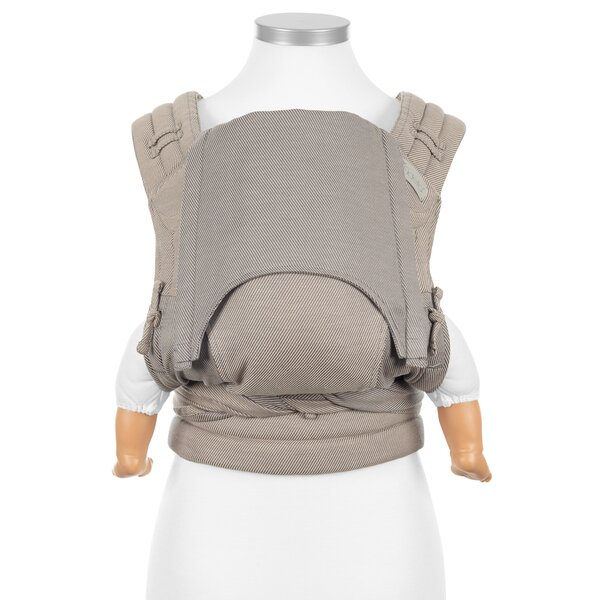 Baby size: Fidella Fly Tai - Mei Tai Babytrage - Classic - Lines - beige